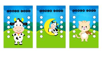 Student Reward Punch card: Nursery Rhyme theme