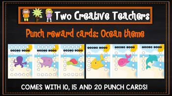 Student Reward Punch card: Ocean theme