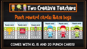 Student Reward Punch card: Racing boys
