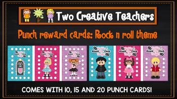 Student Reward Punch card: Rock n roll