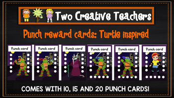 Student Reward Punch card: Turtle inspired