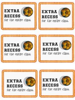 Student Rewards--Classroom reward tickets/coupons