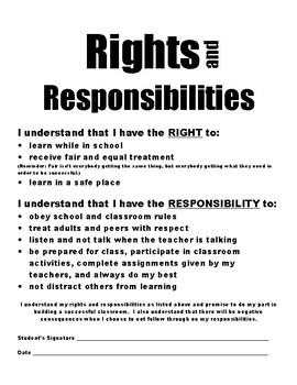 Student Rights and Responsibilities PDF