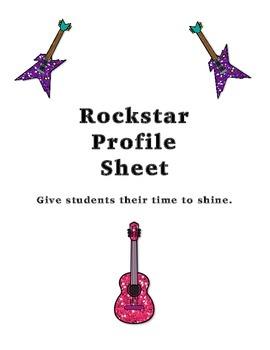 Student Rockstar Profile Sheet