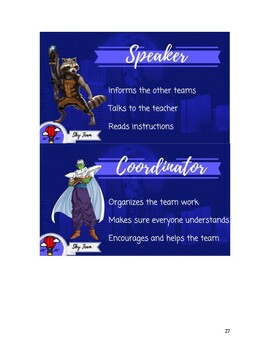 Student Roles Cooperative Groups - Multiverse Game