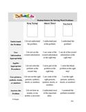 Student Rubric for Solving Math Story Problems