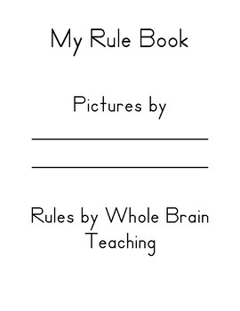 Student Rule Book- using rules from Whole Brain Teaching