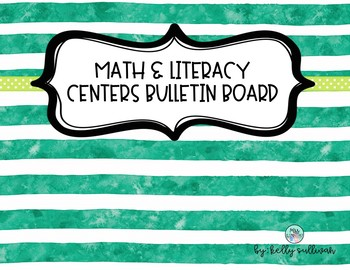 Student-Run Math and Literacy Centers Bulletin Board