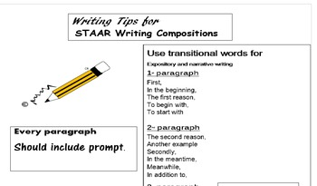 Student STAAR Writing folder should Include these things!