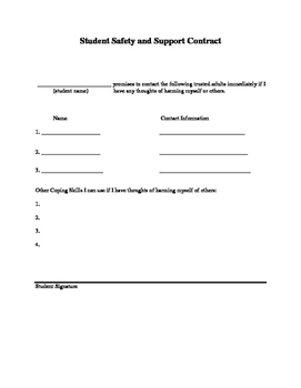Student Safety and Support Plan