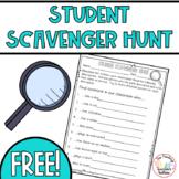 Back to School Student Scavenger Hunt