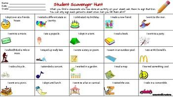 Student Scavenger Hunt