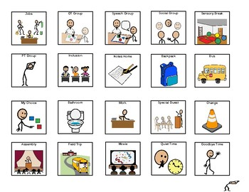 Student Schedule Icons: Visuals