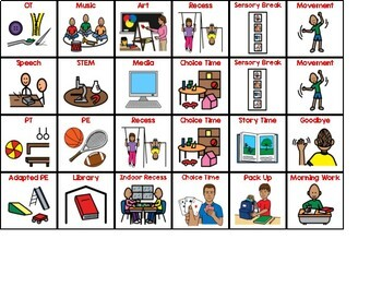 Student Schedule Visuals - Special Education