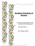 Student Schedule of Review (For any grade)