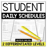 Daily Student Schedules