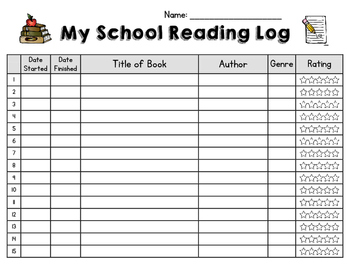Student School / Class Reading Log