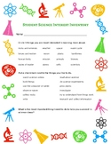 Student Science Interest Inventory