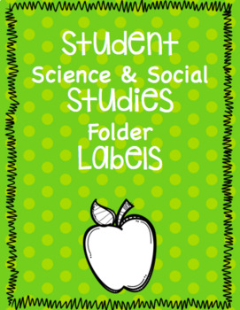 Student Science and Social Studies Folder
