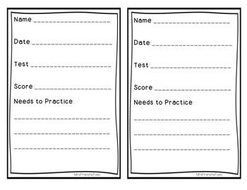 Student Score Slips