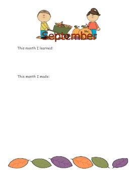 Student Scrapbook - Kindergarten