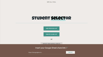 Student ☞Selector for IWB / SmartBoard / Activboard / Touchscreens