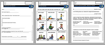 Student Self Advocacy Forms with some Visual Resources (8 Forms!)