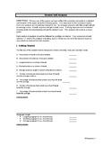 Student Self-Analysis of Written Essay