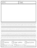 Student Self-Assessing Writing Paper FREEBIE