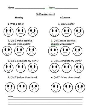 Student Self- Assessment