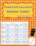 Student Self Assessment Behavior Tracker (Year-Long Template)