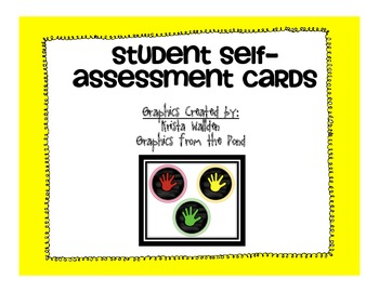 Student Self-Assessment Cards