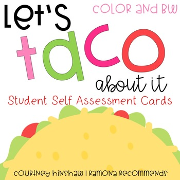 Student Self Assessment Cards