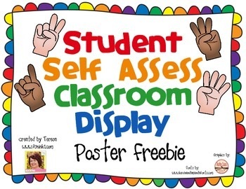 Student Self Assessment Classroom Display
