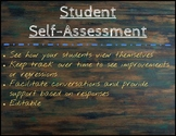 Student Self Assessment, Editable!