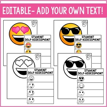 Student Self Assessment Emojis Marzano Scale Levels of Understanding