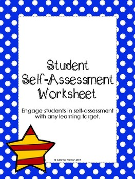 Student Self- Assessment Exit Slip