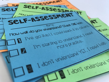 Student Self-Assessment FREEBIE