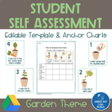 Student Self Assessment-Garden Theme Template & Anchor Charts