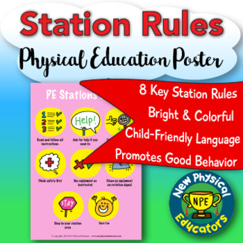 Station Rules Health and Physical Education Poster