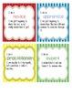 Student Self Assessment Mini Desk Posters