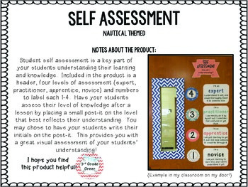 Student Self Assessment { Nautical }