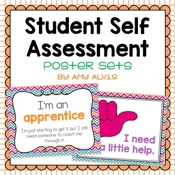Student Self Assessment Posters By Amy Alvis  Teachers Pay Teachers