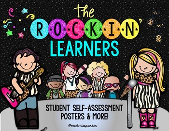 Formative Assessment: Student Self Assessment Posters & More - Rockstar Theme