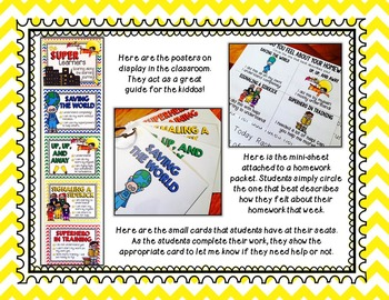 Formative Assessment: Student Self Assessment Posters & More - Superhero