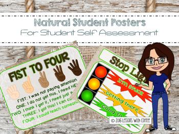 Student Self Assessment Posters (Shiplap Burlap Theme)
