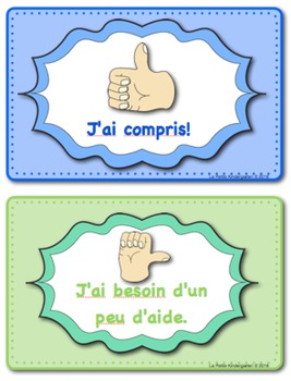 Student Self Assessment Posters in FRENCH