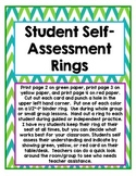 Student Self-Assessment Ring Cards