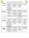 Student Self Assessment Rubric