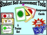 Student Self-Assessment:  Student Response Cards & Poster Set + FREEBIE!